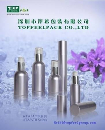 China manufacturer 30ml,50ml pp cosmetic airless bottles for cosmetic packaing