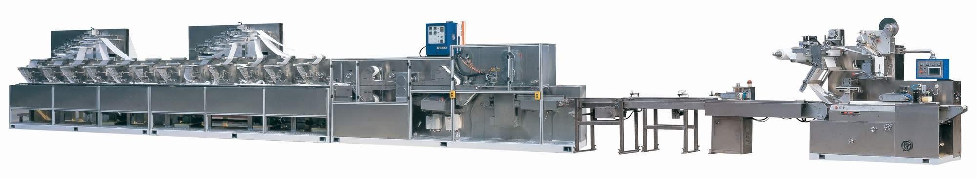 wet tissue making and packing machine, wet wipes making and packing machine