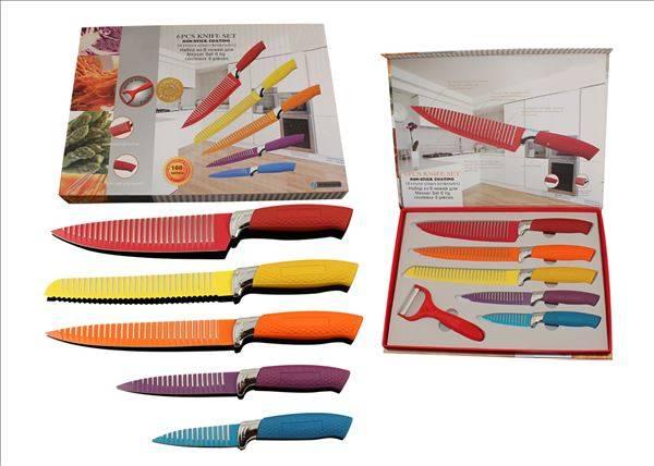 6pc kitchen knife set