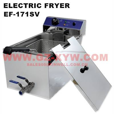 Electric Fryer EF-171SV with valve and handle