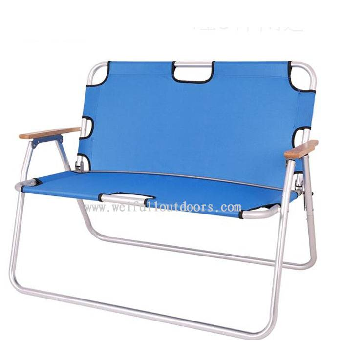 Wholesale Cheap Steel Tube 600D Fabric Portable Camping Folding Double Chairs