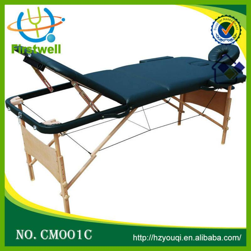 wooden massage table   massage bed