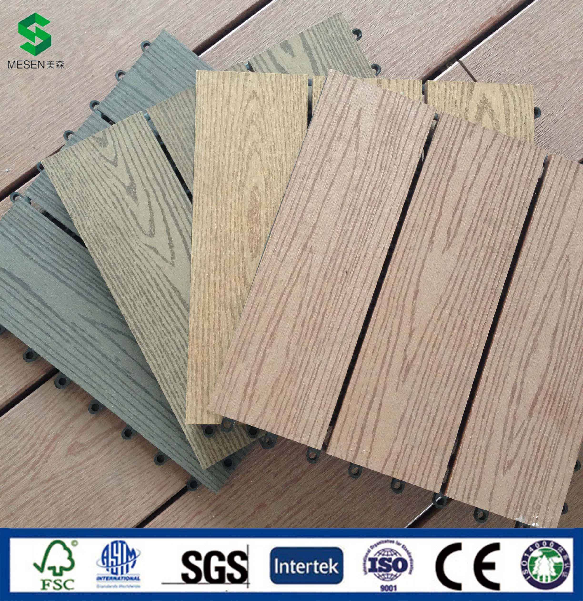 Sell Wood Plastic Composite(WPC) Tile in Landscape Outdoor Decking