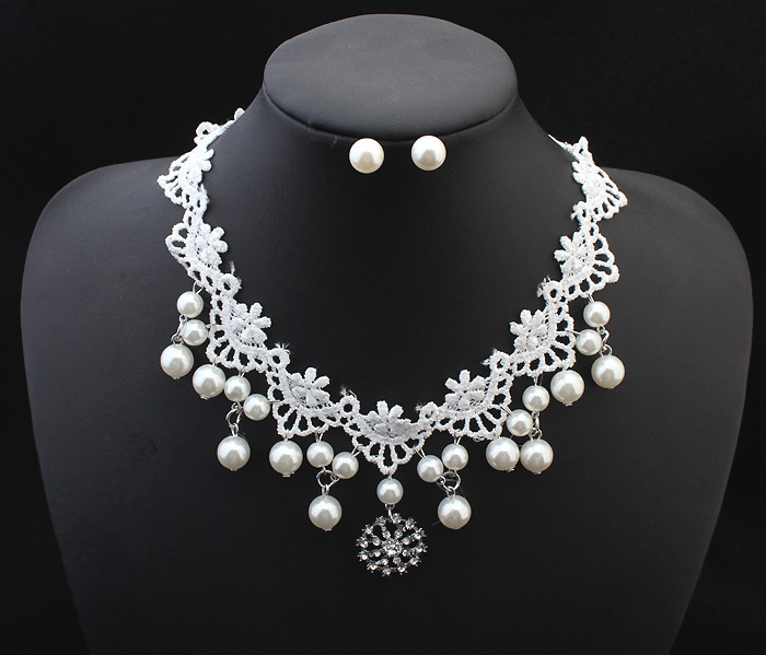 Freshwater Pearl Bridal Necklace Set