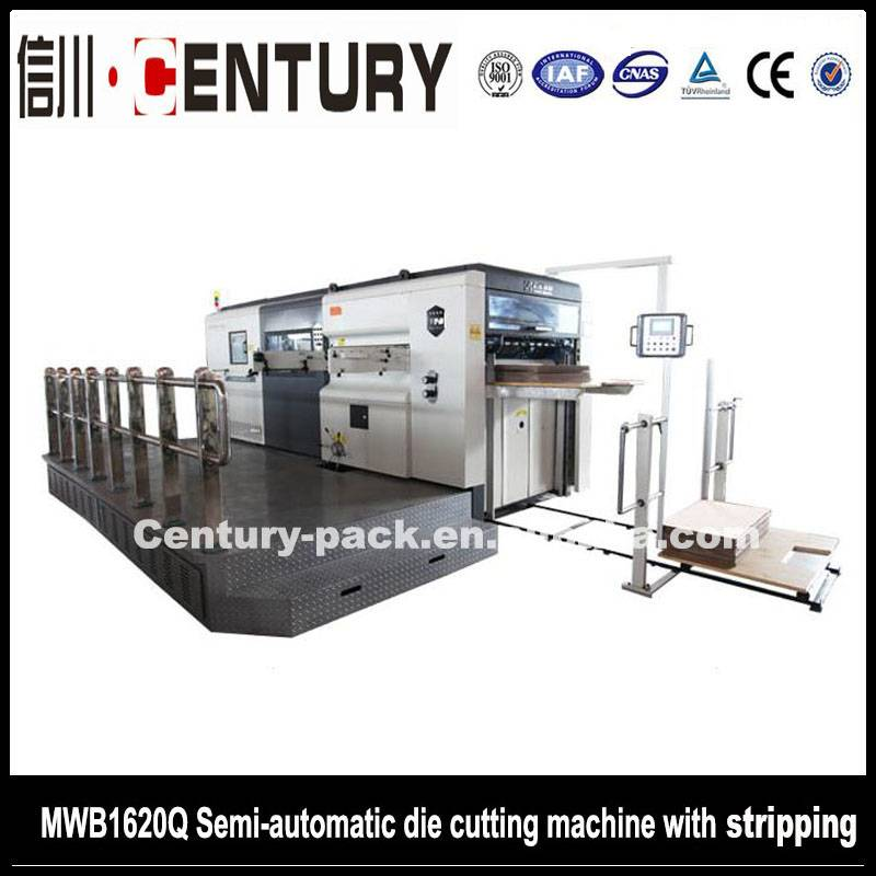 Semi automatic die cutting machine for cardboard and corrugahted board
