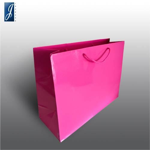 Currency big pink garment bag