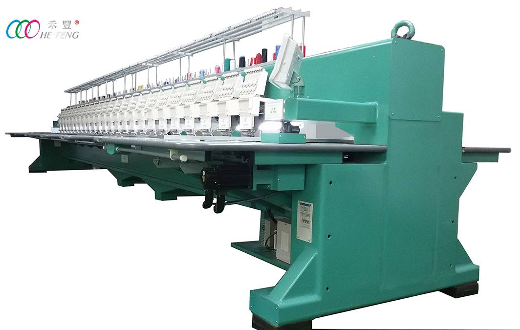15 heads high speed flat embroidery machine for clothing