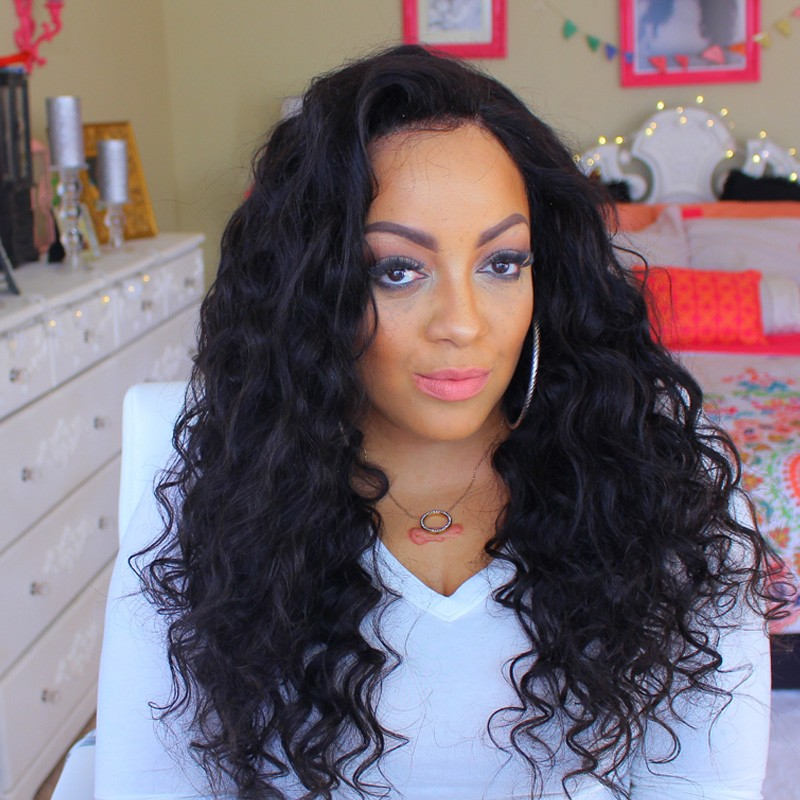 250% High Density Glueless Full Lace Wigs Human Hair with Baby Hair for Black Women Natural Hair Lin