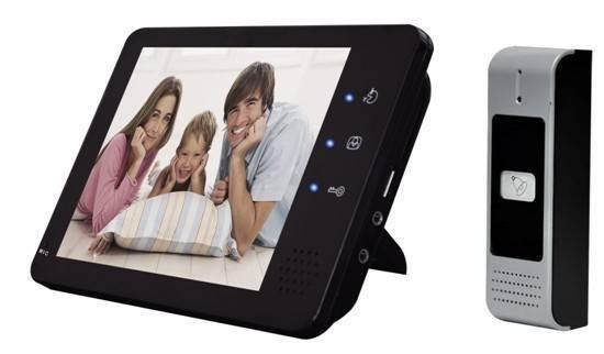 7inch color handfree video door phone for villas cmos ccd