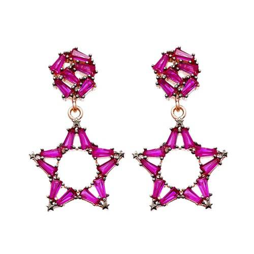 Promotional products starfish 925 sterling silver beguette earring
