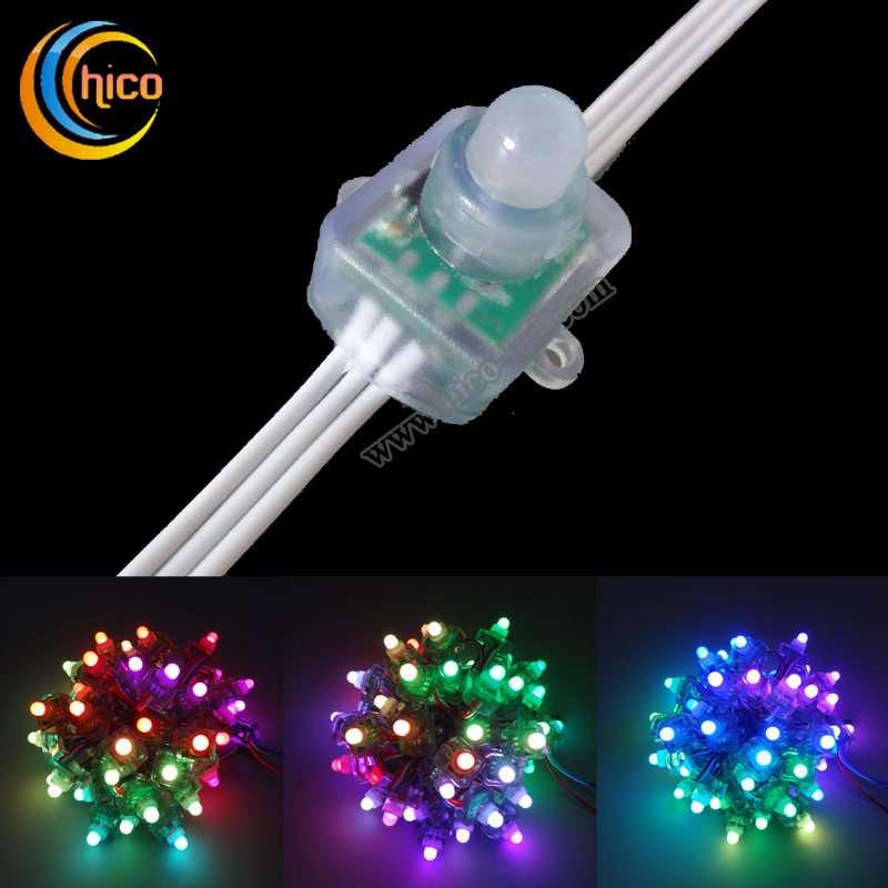 12mm square led pixel light Full Color RGB LED Pixel module Light With IC WS2811/UCS1903/SM16703