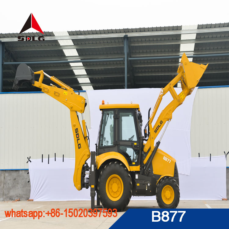 The best quality backhoe loader B877 with SDLG brand