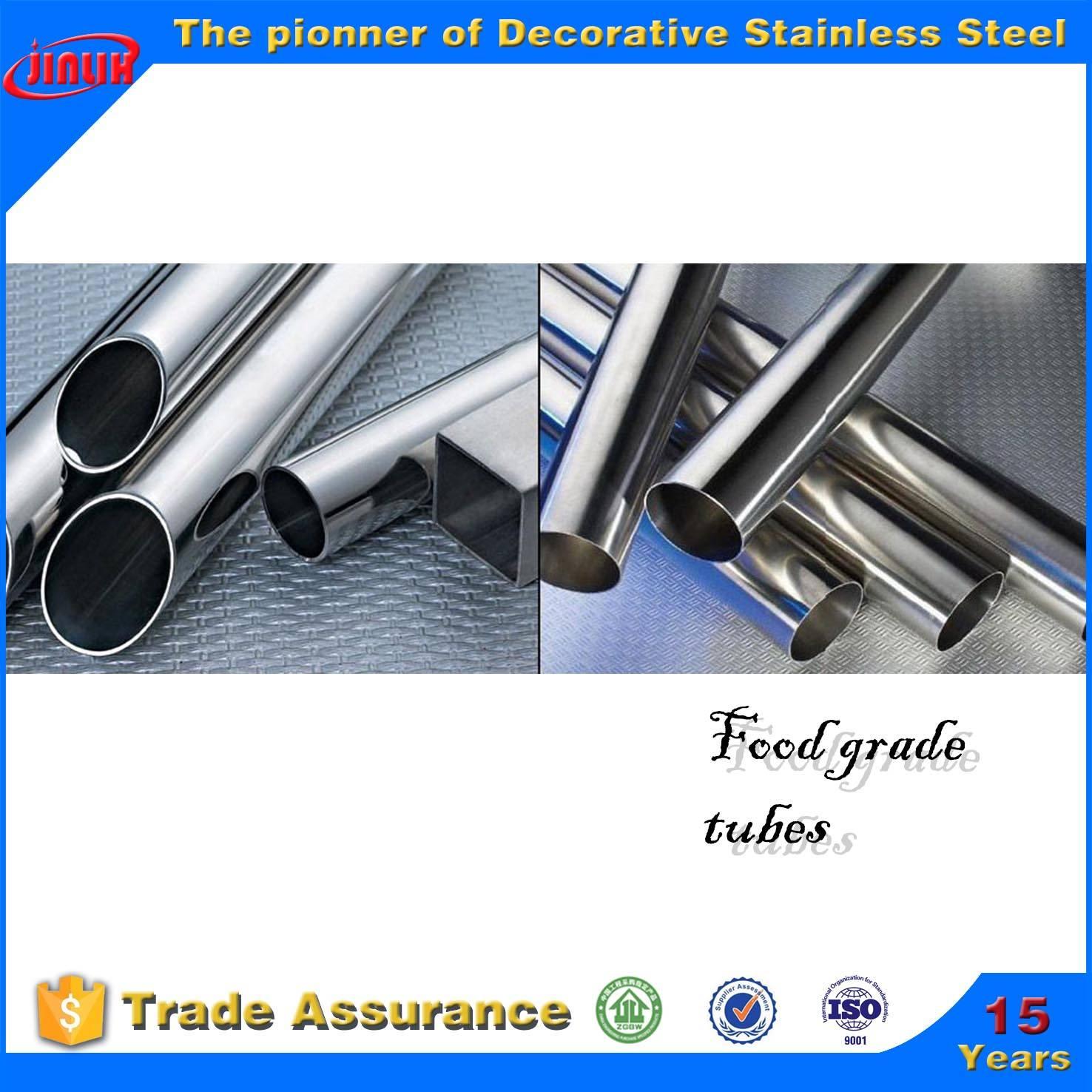 300 series stainless steel food grade tube for liquid transportation