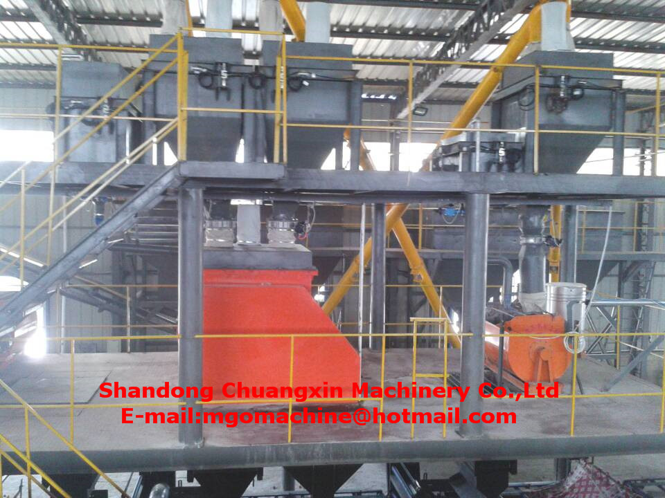 High Automatic Degree Mgo Sandwich Panel Equipment with Steel Structure