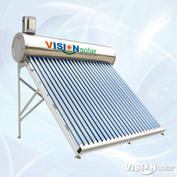 Vision Solar Compact Non Pressure Vacuum Tube Solar Water Heater