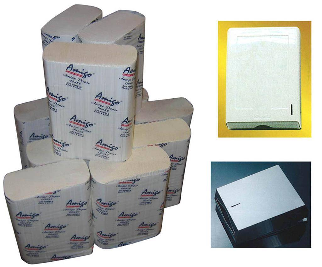 M-Fold Paper Towel and M-fold paper dispenser