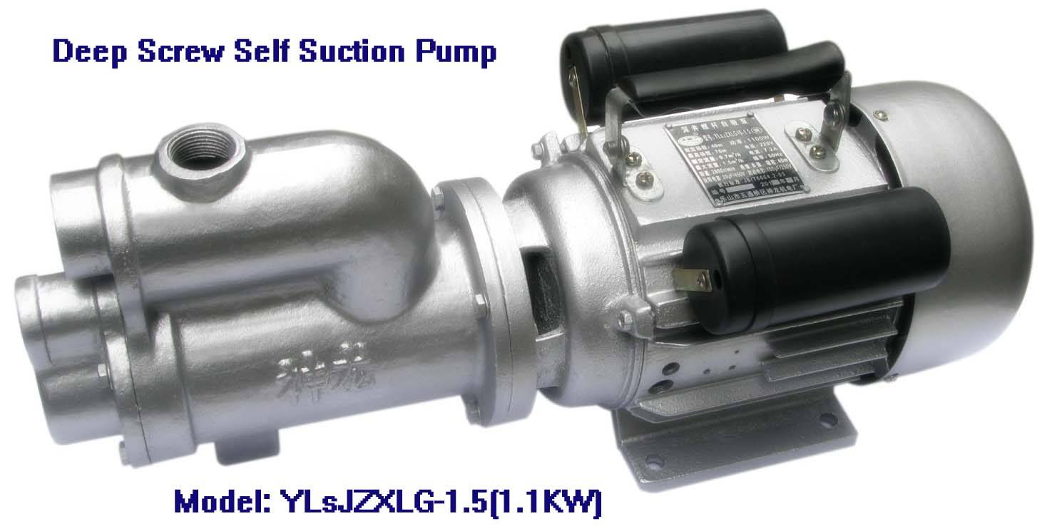 Electric Deep Screw Self Suction Pump-YLsJZXLG-1.5, 1100W