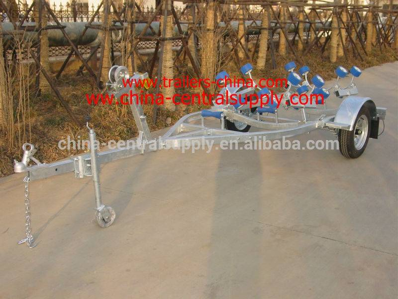 4.1m light-duty boat trailer with roller system