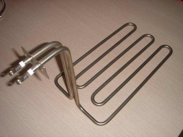 Electric heating tube for kitchen parts