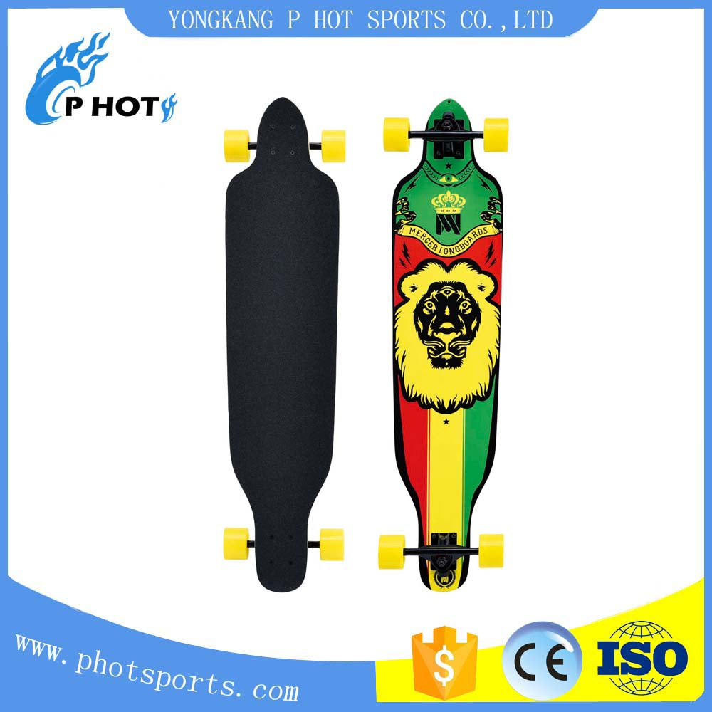 41 inch long board skateboard 9 layer Chinese Maple skate board skateboard deck printing