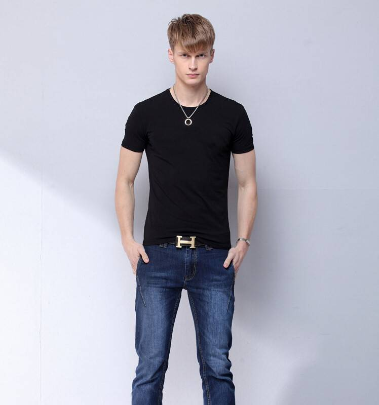 cotton polyester short sleeve mens t shirts