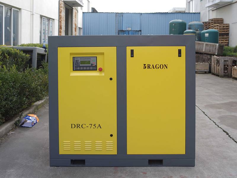stationary direct driven screw air compressor 10hp