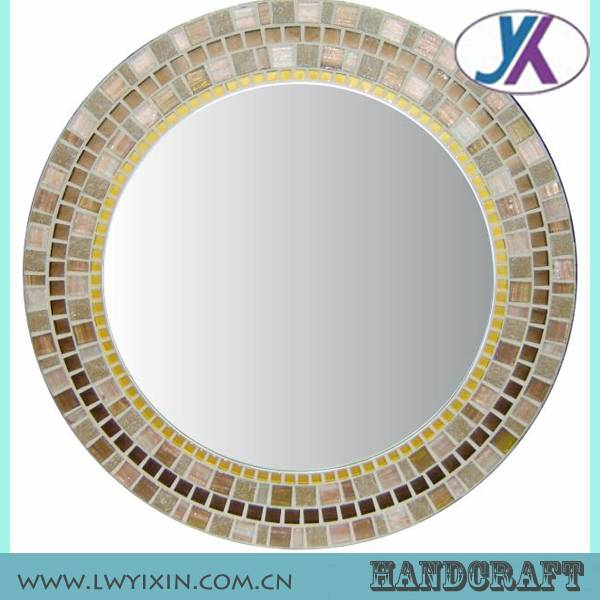Decorative classic designed crackle glass mosaic mirror