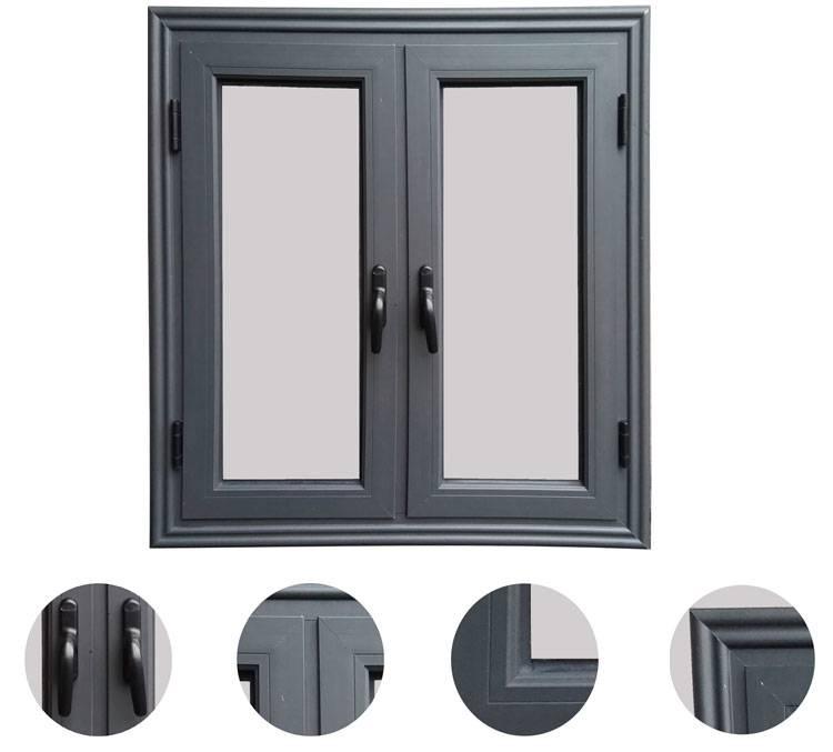 non-thermal break aluminum casement windows