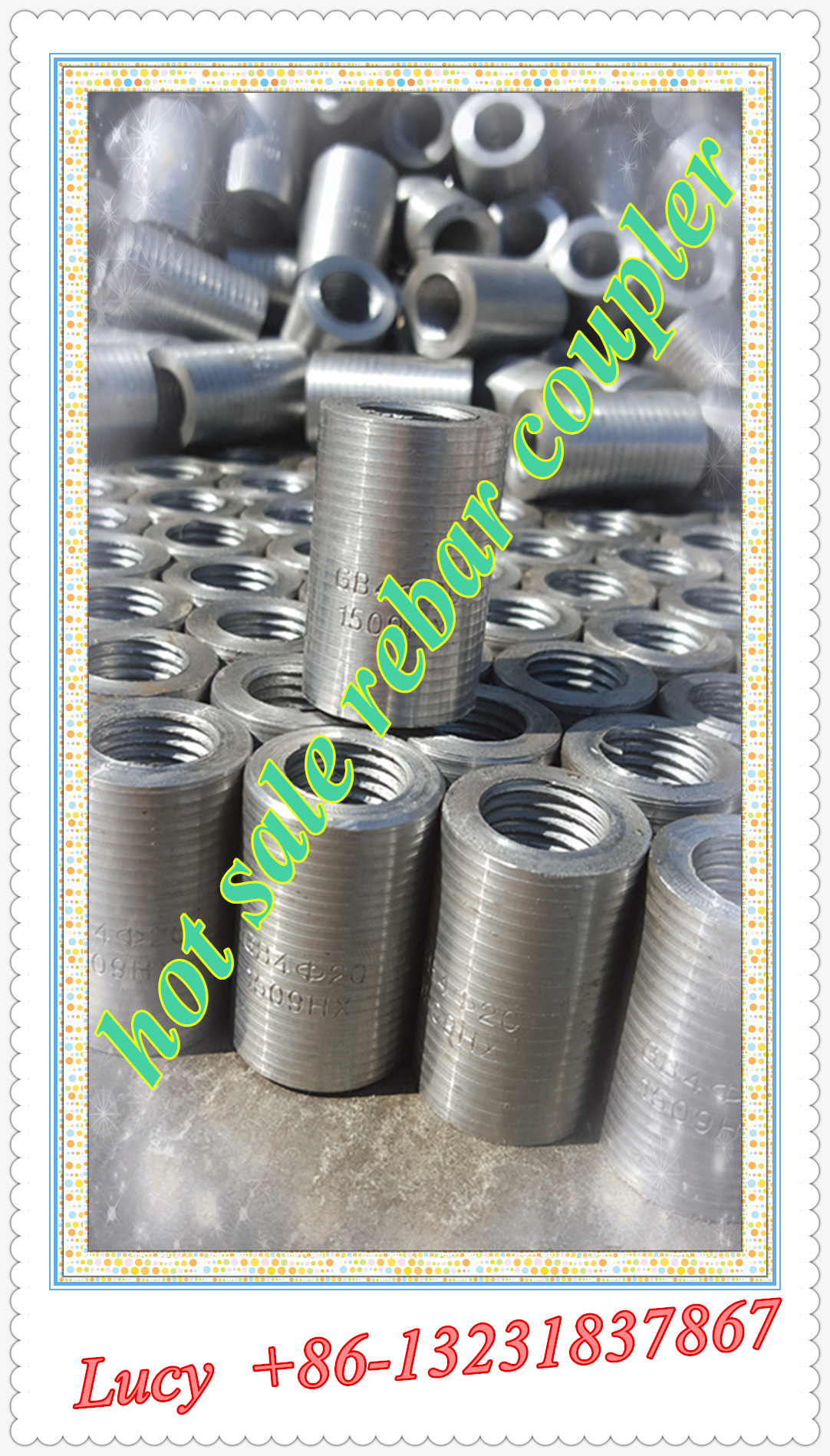 straight thread sleeve/ rebar coupler with factory price