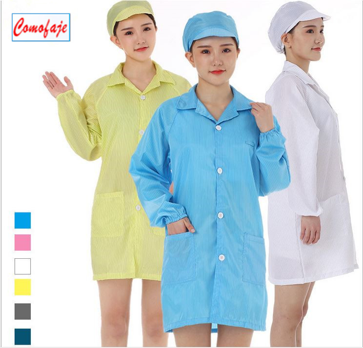 Hot Sale ESD clothes anti-static clothing ESD workwear clothes Anti-static Cleanroom Garment