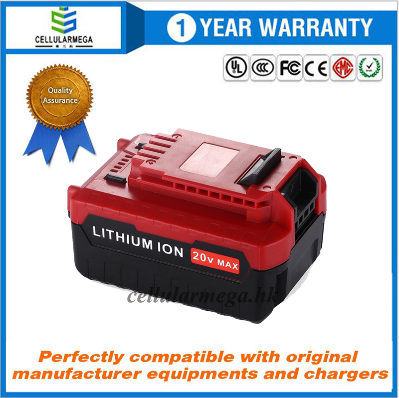 20V Max 5.0Ah Lithium Replacement Battery for Porter Cable PCC685L PCC680L Cordless Tools Batteries
