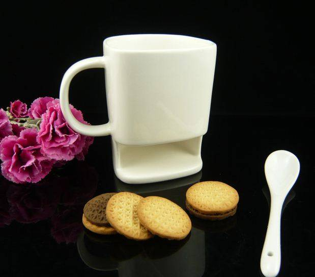 Ceramic stoneware coffee cookie mug
