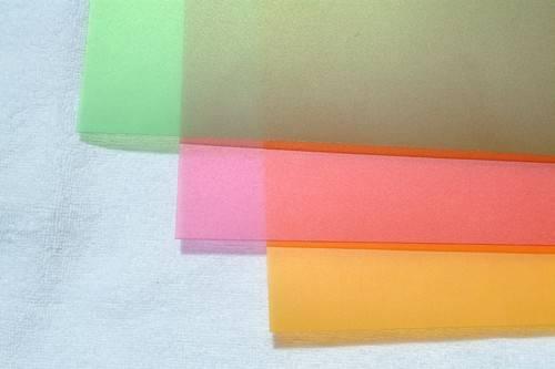 high quality matt colored organic sheet