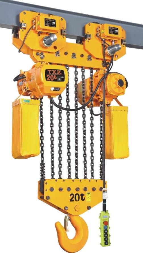 20ton electric chain hoist with electric pulley
