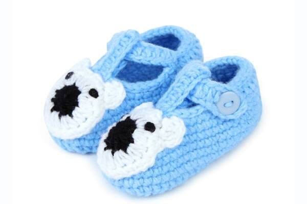 Wholesale Pure Cotton Crochet Animal Shape Shoes for Infant