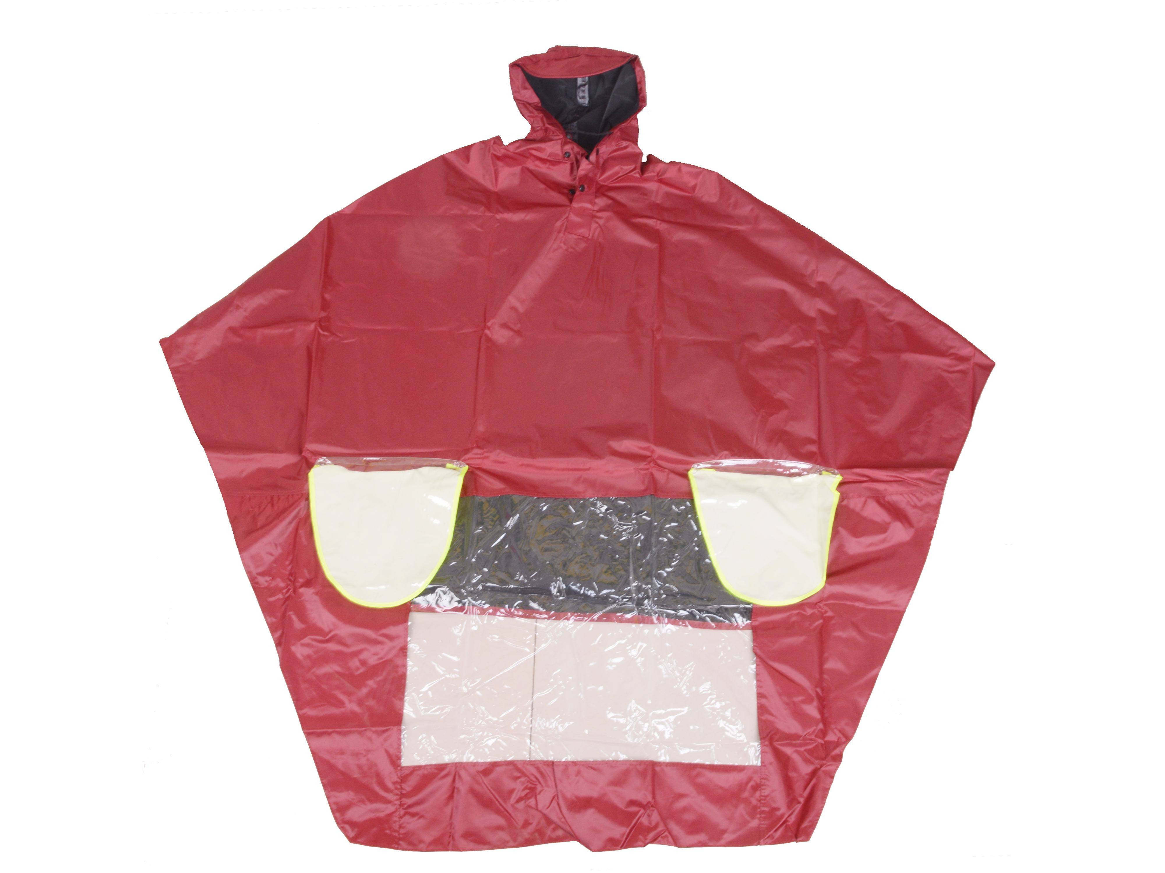 R-1020A-PL-3 RED POLYESTER MOTORCYCLE RAIN GEAR