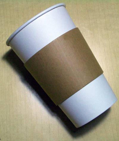 Paper cup and paper (coffee) cup sleeve