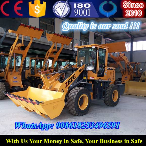 Hinged connection front small wheel loader price
