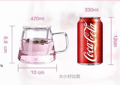 Borosilicate glass tea pot , Tea brewer ,Stainless steel tea maker