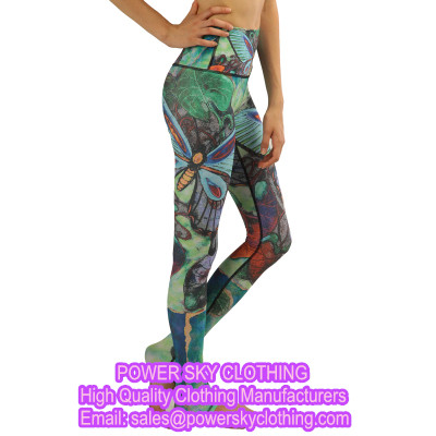 Sexy Running Floral Print Yoga Tights Women Fitness Yoga Pants From Power Sky Garment Factory