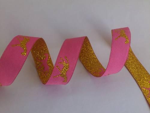 metallic motif horse ribbon