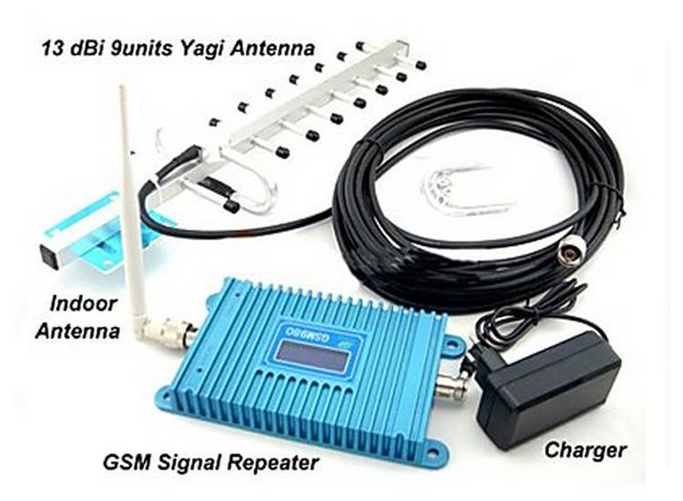 3G WCDMA 2100MHz universal Indoor Home/office mobile phone signal Repeater with YAGI antenna