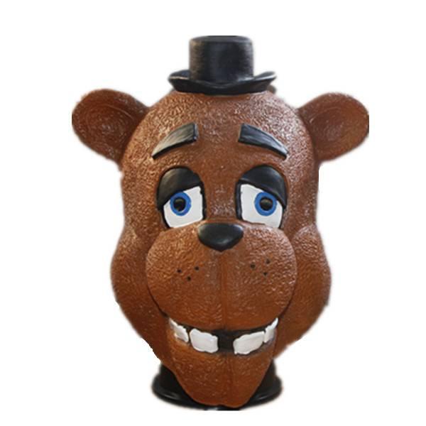 X-MERRY Five Nights At Freddy's Bear Mask Latex Animal Mask