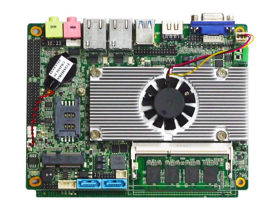 Mini 3.5inch 1037U Celeron Motherboard with onboard 4GB Ram
