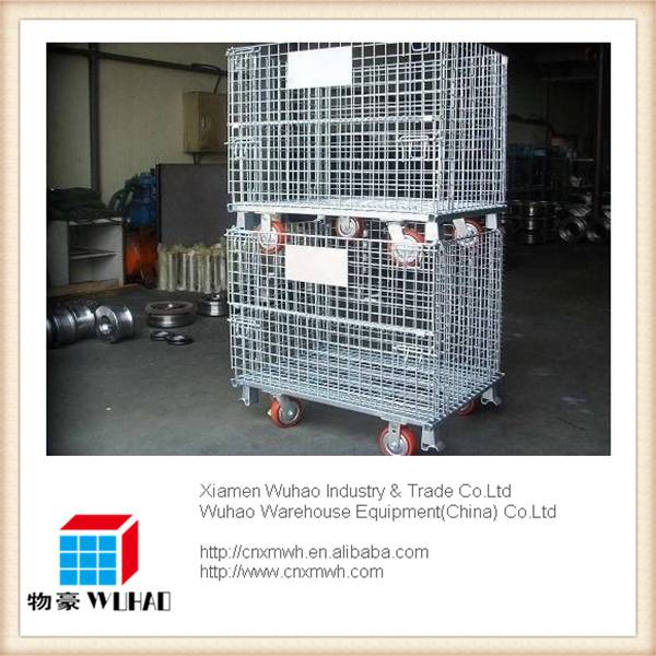 wire container storage cage wire mesh container