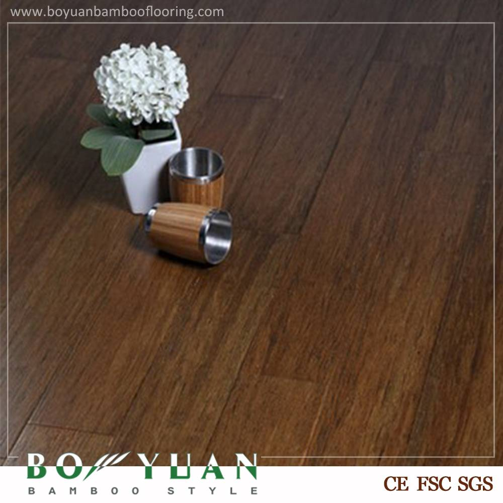BY china top ten High Quality wire-brushed strand woven bamboo flooring