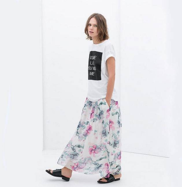 2014 Summer Fashion Ladies Chiffon Fashion Skirts