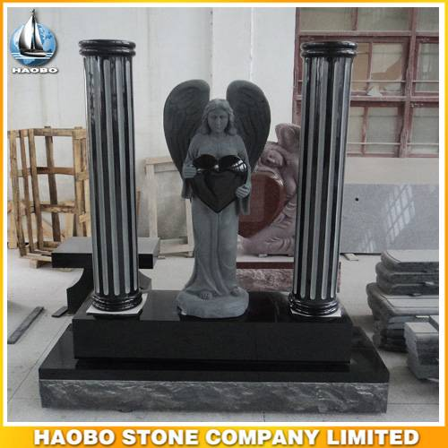 Angel Statue Headstone Heart Shape Tombstone