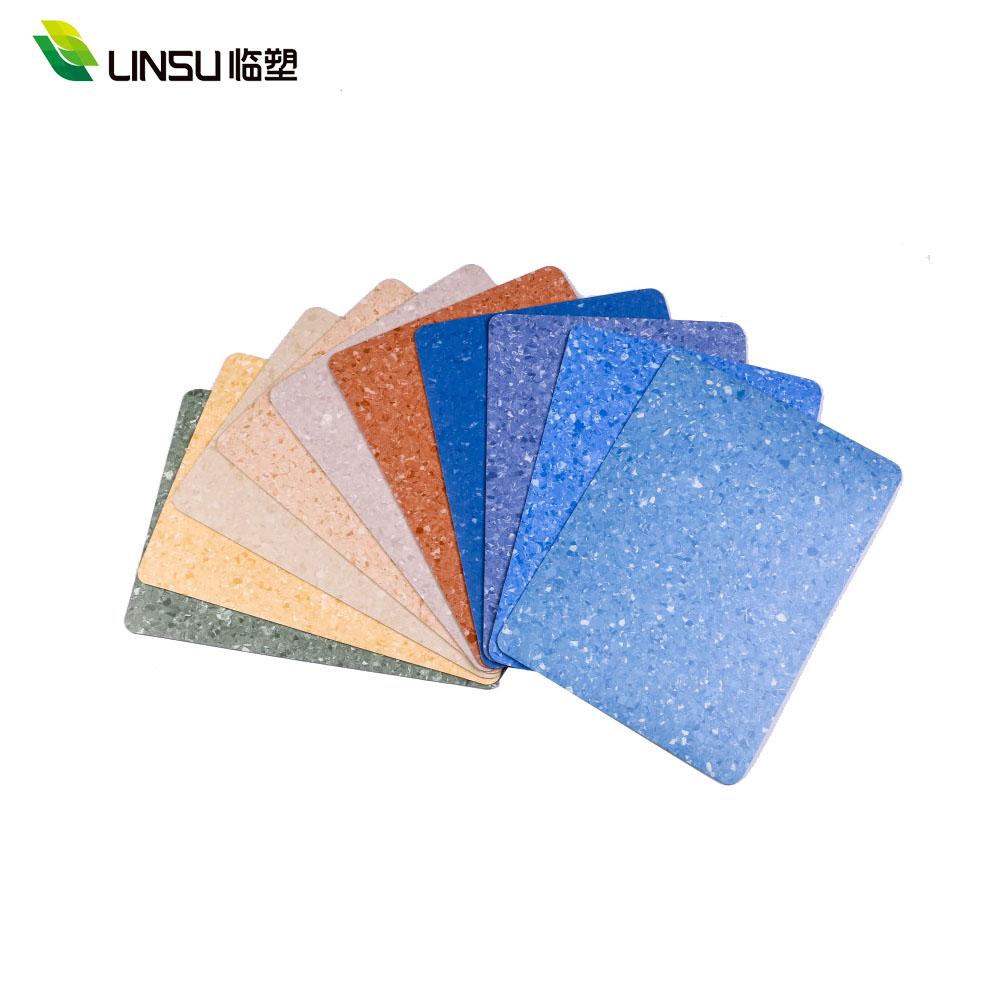 Customized Slip Resistant Homogeneous vinyl Roll Flooring