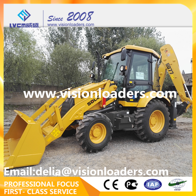 SDLG Backhoe loader LGB877 China Excavator Loader B877 for sale
